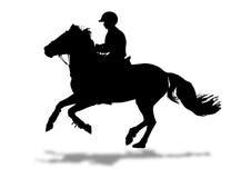 Het silhouet van de ruiter Royalty-vrije Stock Afbeelding