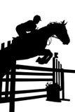 Het silhouet van de ruiter Royalty-vrije Stock Fotografie