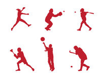 Het silhouet van de Sporten van de jeugd Stock Foto's