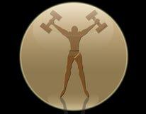Het silhouet van de sportman Stock Afbeelding