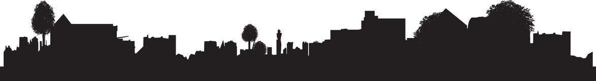 Het silhouet van de stad vector illustratie