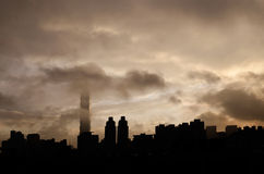 Het silhouet van de stad Stock Afbeeldingen