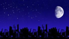 Het silhouet van de stad Stock Afbeelding