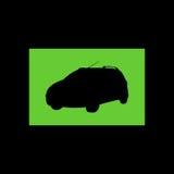 Het silhouet van de stadsauto in Vector royalty-vrije stock fotografie
