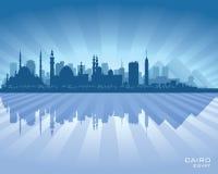 Het Silhouet van de de Stadshorizon van Kaïro Egypte stock illustratie