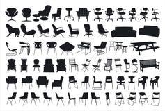 Het Silhouet van de stoel Stock Foto