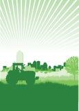 Het silhouet van de tractor Stock Afbeelding