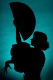 Het silhouet van de ventilator royalty-vrije stock afbeelding