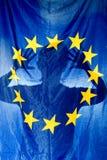 Het silhouet van de vlag stock afbeelding