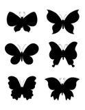 Het silhouet van de vlinder/van vlinders Stock Afbeelding