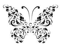 Het silhouet van de vlinder voor u ontwerp royalty-vrije illustratie