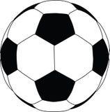 Het silhouet van de voetbal Stock Afbeelding
