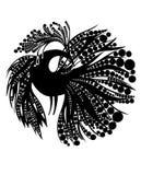 Het silhouet van de vogel Royalty-vrije Stock Foto