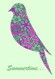Het silhouet van de vogel Royalty-vrije Stock Afbeeldingen