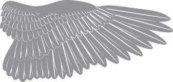 Het silhouet van de vogelvleugel Stock Afbeeldingen