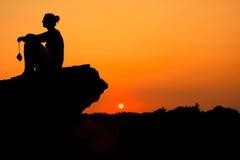 Het silhouet van de vrouw. Royalty-vrije Stock Afbeelding