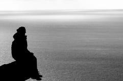 Het Silhouet van de vrouw Stock Afbeelding
