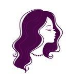 Het silhouet van de vrouw Royalty-vrije Stock Afbeelding