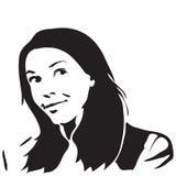 Het silhouet van de vrouw Royalty-vrije Stock Afbeeldingen