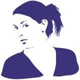 Het silhouet van de vrouw Stock Foto