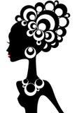 Het silhouet van de vrouw stock illustratie