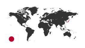 Het Silhouet van de wereldkaart royalty-vrije illustratie