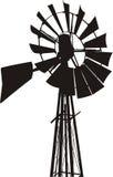 Het Silhouet van de windmolen Royalty-vrije Stock Foto's