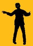 Het Silhouet van de zombie Stock Afbeeldingen