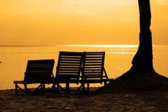 Het Silhouet van de zonsondergang Royalty-vrije Stock Fotografie