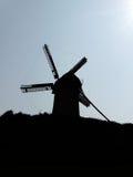 Het Silhouet van de Zonsondergang van de windmolen Stock Foto's
