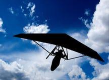 Het Silhouet van deltavliegen Royalty-vrije Stock Afbeelding