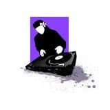 Het silhouet van DJ stock illustratie