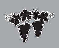 Het silhouet van druivenbossen royalty-vrije illustratie