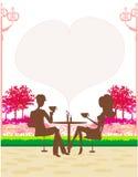 de man en de vrouw drinken koffie Royalty-vrije Stock Afbeeldingen