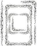 Het silhouet van frames Royalty-vrije Stock Foto