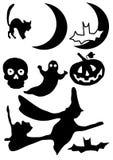 Het Silhouet van Halloween Royalty-vrije Stock Afbeeldingen