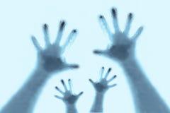 Het silhouet van handen Stock Foto