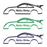Het silhouet van het autolichaam voor uw commercieel gebruik eps10 stock illustratie