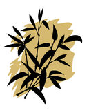 Het silhouet van het bamboe Royalty-vrije Stock Foto's