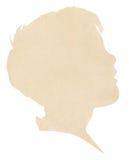 Het Silhouet van het Document van de jongen Royalty-vrije Stock Afbeeldingen