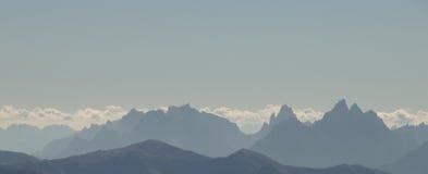 Het silhouet van het dolomiet Royalty-vrije Stock Foto's