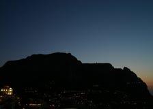 Het silhouet van het eiland Stock Fotografie