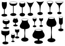 Het silhouet van het glas Royalty-vrije Illustratie