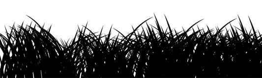 Het silhouet van het gras stock illustratie
