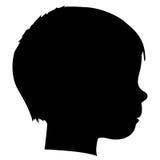 Het silhouet van het kind Stock Afbeeldingen