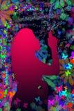Het silhouet van het meisje Stock Afbeeldingen