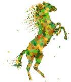 Het silhouet van het paard. Stock Foto's