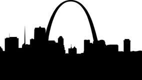 Het Silhouet van het Saint Louis Stock Afbeeldingen