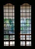 Het silhouet van het venster royalty-vrije stock foto's
