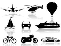 Het silhouet van het vervoer Royalty-vrije Stock Fotografie